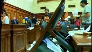 Bill 3 protest Mtl city hall