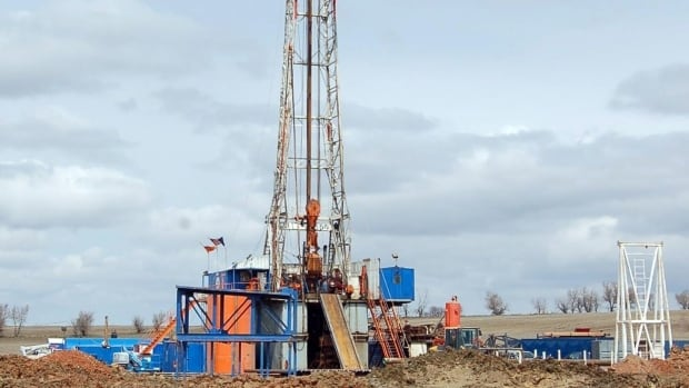 A drill rig owned by Enid, Okla.-based Continental Resources Inc. aims for oil from the Bakken Shale via a process called fracking. It involves injecting wastewater into the ground, which can trigger earthquakes.