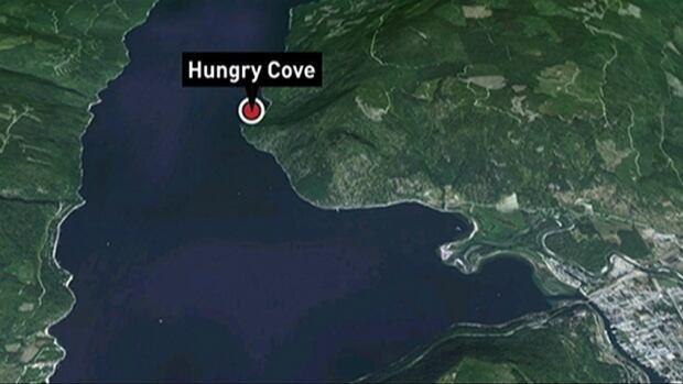 The crash happened at Hungry Cove on B.C.'s Shuswap Lake.