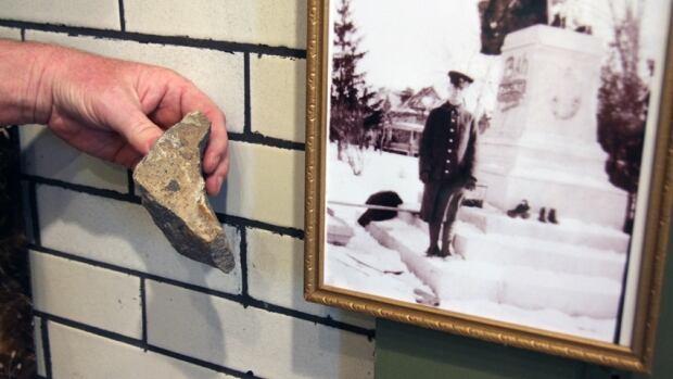 Granite left from memorial