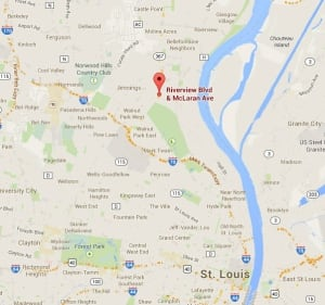 St. Louis police officer involved shooting map
