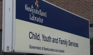 Child, Youth and Family Services sign