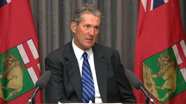 Progressive Conservative Leader Brian Pallister says the province's current taxpayer-funded road construction signs are essentially campaign signs for the NDP government.