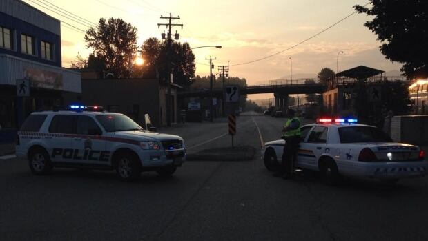 RCMP shut down the Lougheed Highway in Mission, B.C. because an ammonia leak at the B.C. Frozen Foods Plant.