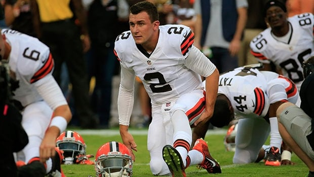 """Brown rookie quarterback Johnny Manziel says he has to be """"smarter"""" on the field."""