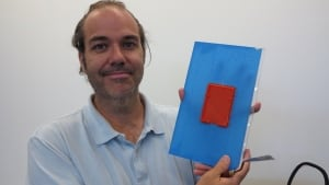 Mike Harvie with his 3D printed Raspberry Pi case