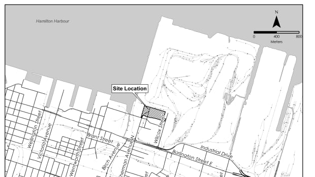 The proposed gasification plant would be on a site of leased land on Pier 15 on the Hamilton waterfront.