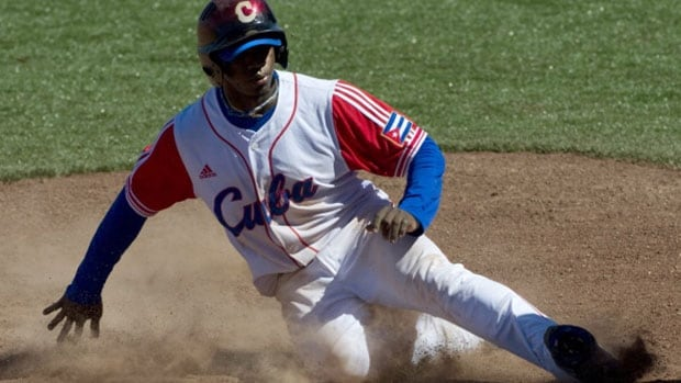 Rusney Castillo would join fellow Cuban Yoenis Cespedes in Boston's new-look outfield.