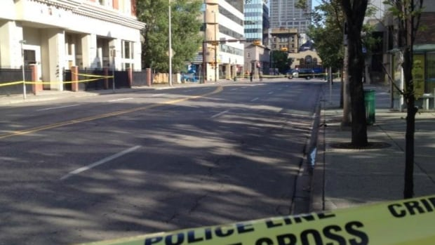 Homicide detectives in Calgary are investigating after a shooting early Saturday morning downtown.