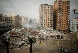 Gaza-strikes