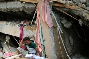 Gaza-rubble