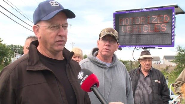 Saturday's protest was organized by a group of ATV operators in the C.B.S. area. The group drummed up over 700 signatures on a petition addressed to the Town of Conception Bay South.