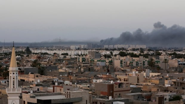 War planes struck Tripoli in an attack claimed by renegade general Khalifa Haftar.