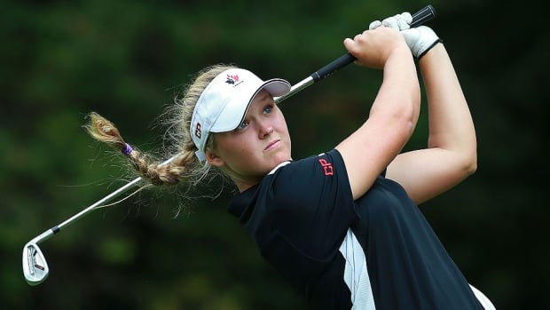 """Brooke Henderson finished at two-under par at the Canadian Pacific Women's Open in London, Ont., on Sunday, the best showing by a Canadian since Lorie Kane in 2010. """"You learn so much more being able to play the weekend because it is different than the first two days,"""" she says."""