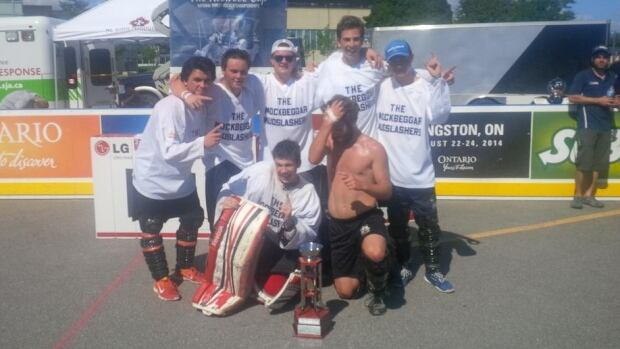 The Mockbeggar Mudslashers from Bonavista won the under-17 championship on Sunday at the national Play On street hockey tournament in Kingston, Ont.