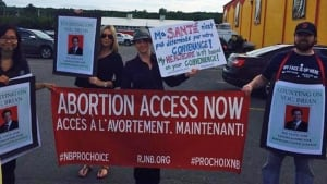 Abortion rights protesters