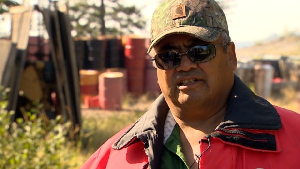 Eddie Sangris is chief of Dettah in the Northwest Territories. 'It's getting to the point where I don't want to support any of the mining going on now,' he said while visiting a mining camp abandoned by Snowfield Resources on prime hunting and fishing land.
