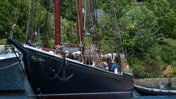 Bluenose II, Nova Scotia's sailing ambassador, heads to port in Lunenburg, N.S. after sea trials on June 24, 2014. The Bluenose II has been undergoing a multi-year restoration that's been plagued by budget overruns and repeated delays, the latest caused by a problem with the vessel's steering system.
