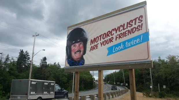 This sign on the Prospect Road just went up a few days ago. The plan is to get about a dozen more of these up around the province before the summer's over.