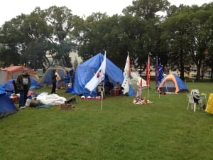 Peaceful protest in Memorial Park in Winnipeg for MMIW