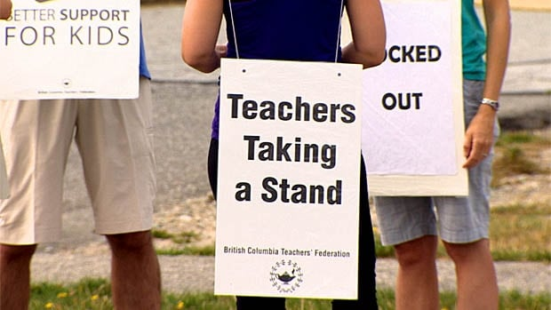 B.C. teachers were back on the picket line Monday.