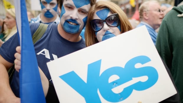 Thousands of pro-independence campaigners marched through Edinburgh in Sept. 2013. The rally was one of several large marches held in the run up to this year's referendum for Scottish Independence.