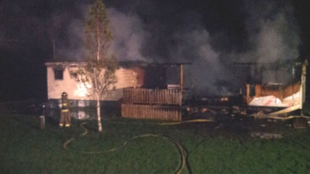 An overnight fire destroyed a mobile home in St. Hubert, P.E.I.