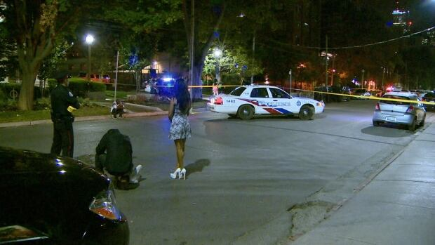 The shooting happened at around 3 a.m. Tuesday at the C Lounge on Wellington Street just west of Spadina.