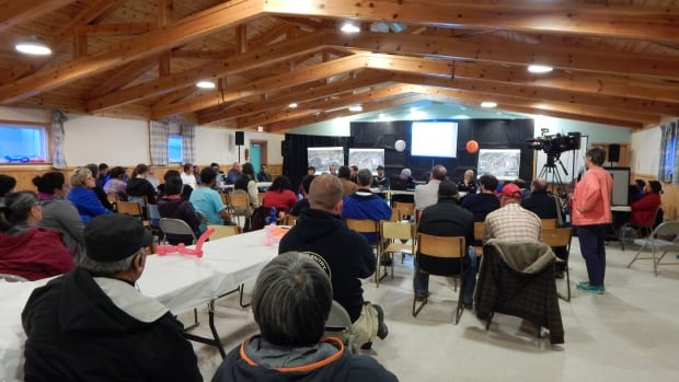 About 50 people gathered Monday night to hear about the City of Iqaluit's plan to tackle the dump fire that's been burning for 99 days.