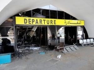 Tripoli, Libya airport damage jet attack