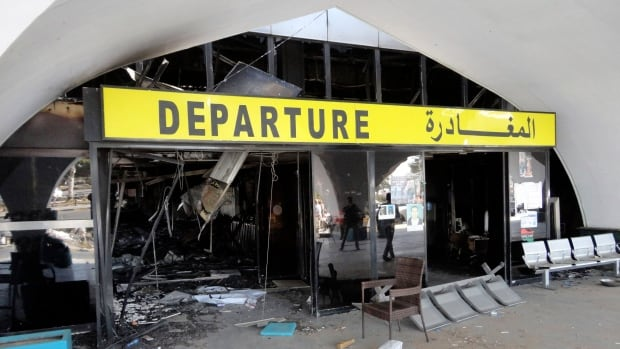 Tripoli's international airport suffered heavy damage on Aug. 24 after war planes attacked targets throughout the Libyan city. The U.S. Tuesday said Egypt and the U.A.E. were responsible for the strikes.