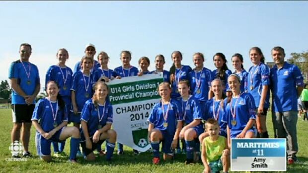 Fundy Soccer Association's Under 14 AA girls' team won the provincial championships on Sunday and dedicated their win to late teammate Caroline Lorette.