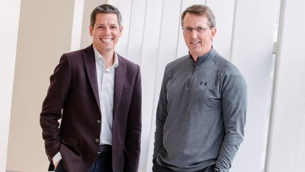 This photo of Brian Bowman, left, with Mark Chipman of True North Sports and Entertainment Ltd. was posted on Bowman's website on Tuesday.