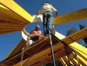 Building a yurt in New Brunswick