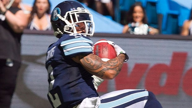 An MRI found no serious damage to the knee of Chad Owens of Toronto Argonauts, but he's still not likely to play against the Hamilton Tiger-Cats at the Labour Day Classic.