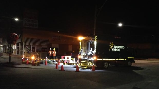 Toronto Hydro crews worked through the night to restore power.
