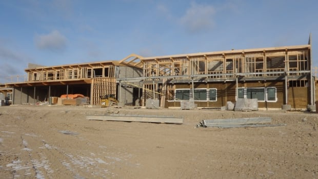 The construction of the new school in the First Nation reserve of Attawapiskat, shown in this undated photo, is set to be complete in mid-September 2014 near the start of the school year.