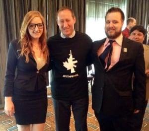 Peter Mackay wears 'No compromise' pro-gun t-shirt