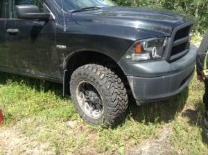 Stolen tires Scott Benson
