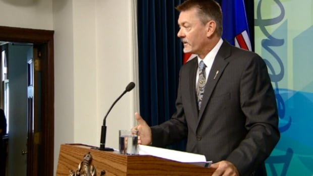 Finance Minister Doug Horner delivered his first quarter fiscal update in Edmonton on Wednesday.