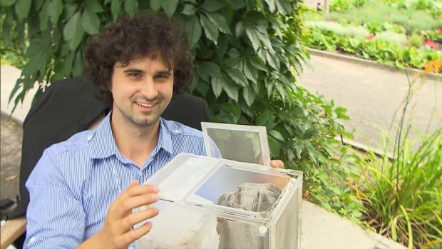 McGill student Jakub Dzamba has spent 7 years figuring out how to farm crickets.