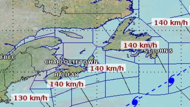 Forecasters tracking Hurricane Cristobal say there could be wind and rain in excess of 50 millimetres in parts of Atlantic Canada starting Thursday and continuing Friday.