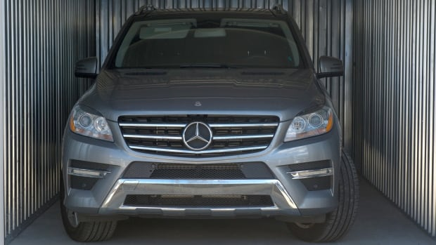 Police say luxury cars like this Mercedes get stolen, loaded into a shipping container and then sent overseas.