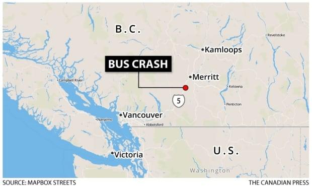 Coquihalla bus crash map