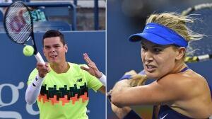 U.S. Open: Eugenie Bouchard, Milos Raonic win in Round 2