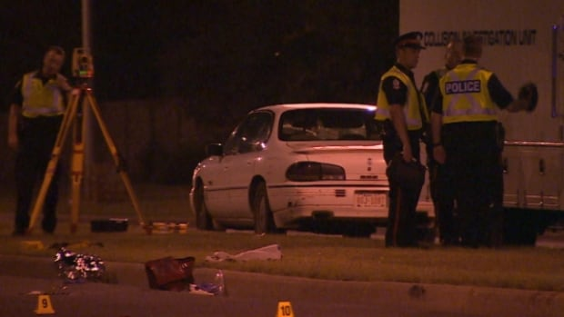 Police closed 87th Avenue from 182nd to 189th Street for about six hours on Thursday night after a car hit a 73-year-old woman.