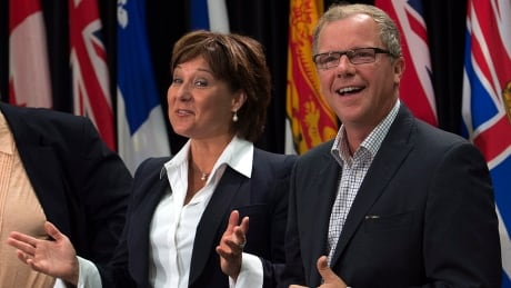 Christy Clark and Brad Wall 20140827
