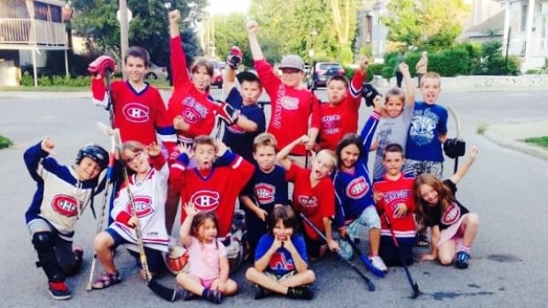 Bridget Sykucki says her boys, along with many other children in the neighbourhood, like to play street hockey in a narrow alleyway.