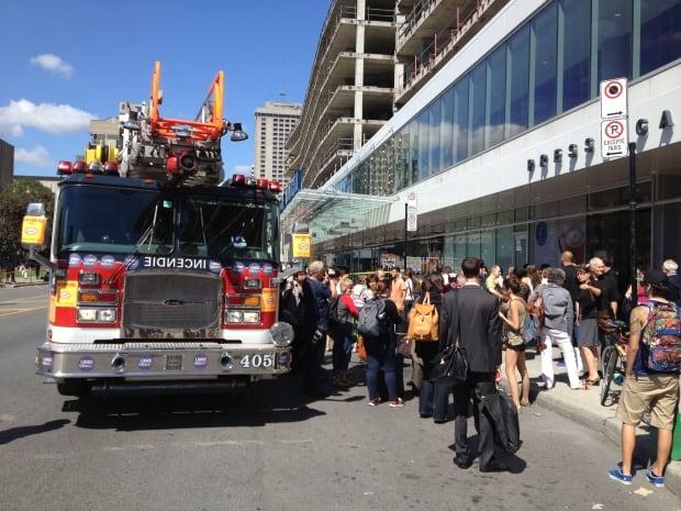 Berri-UQAM bus terminal evacuation