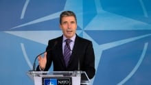 NATO chief Anders Fogh Rasmussen urges Canada to boost defence spending